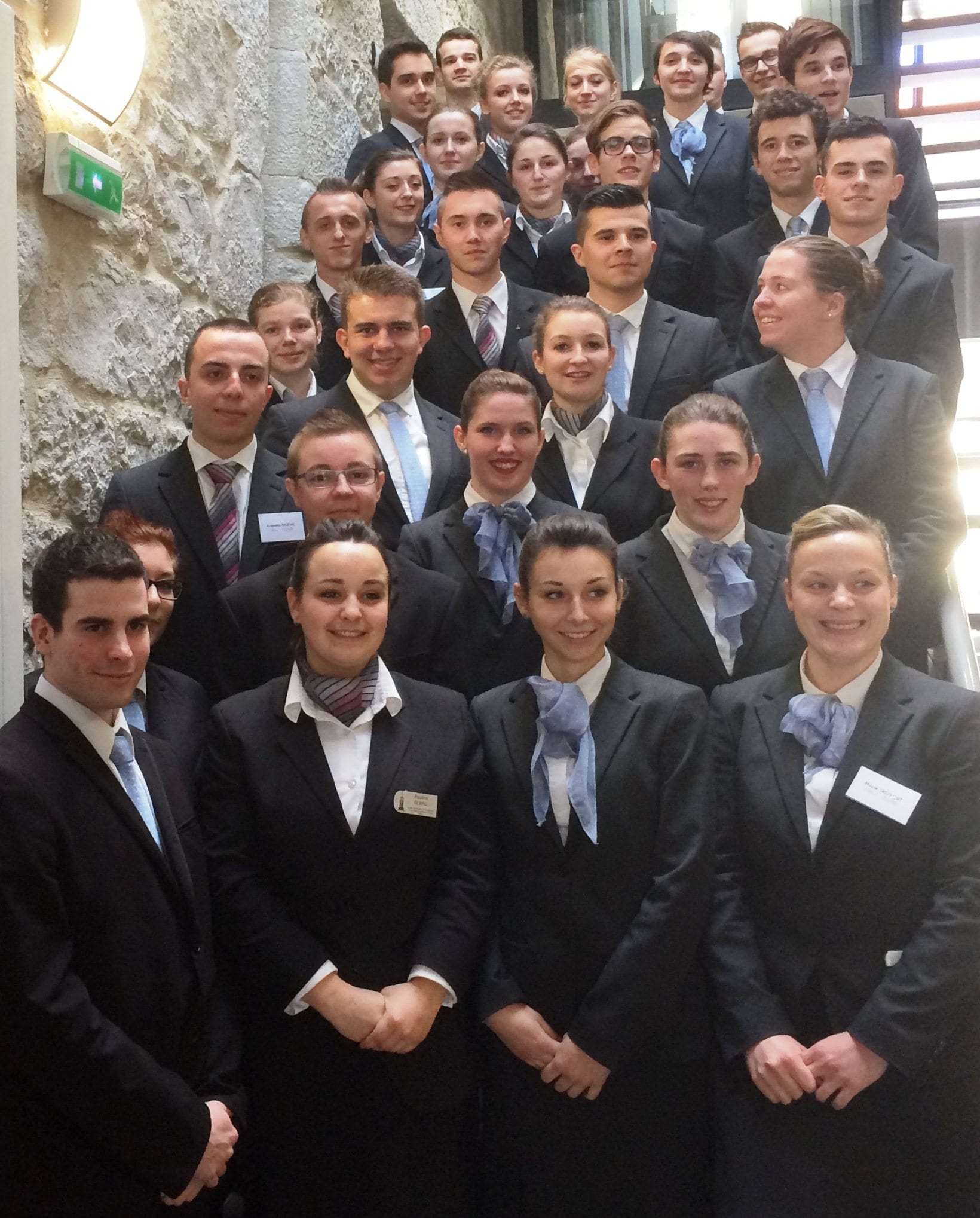 Les jeunes en 2ème année BTS option B du lycée Hyacinthe Friant de Poligny.